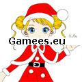 Christmas Girl Painting SWF Game